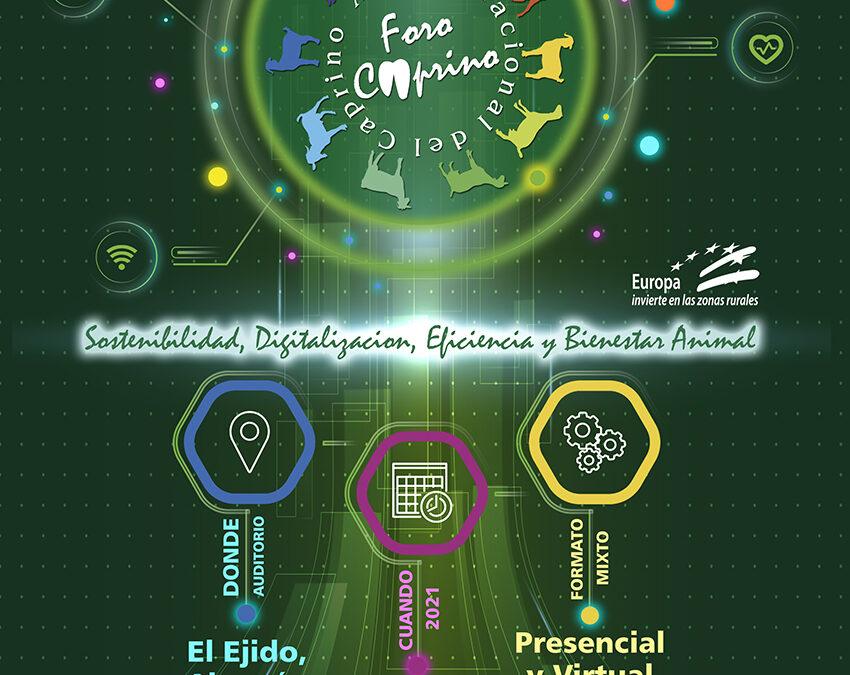 XI Foro Nacional del Caprino el 23 y 24 de septiembre de 2021 en El Ejido (Almería)